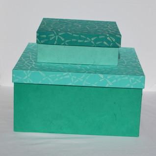 Box Blue Fabric