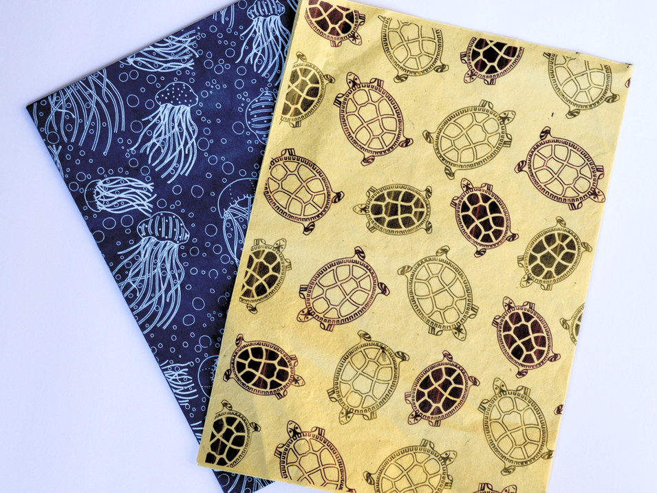 Wrapping Paper Tortoise and Jellyfish_ed
