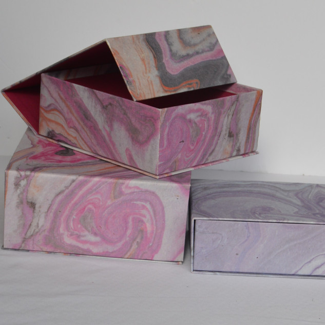 Box Marble Design with Magnatic Lid