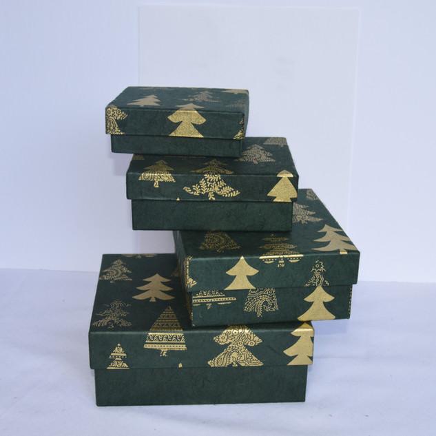 Boxes Tree Desing Dark Green