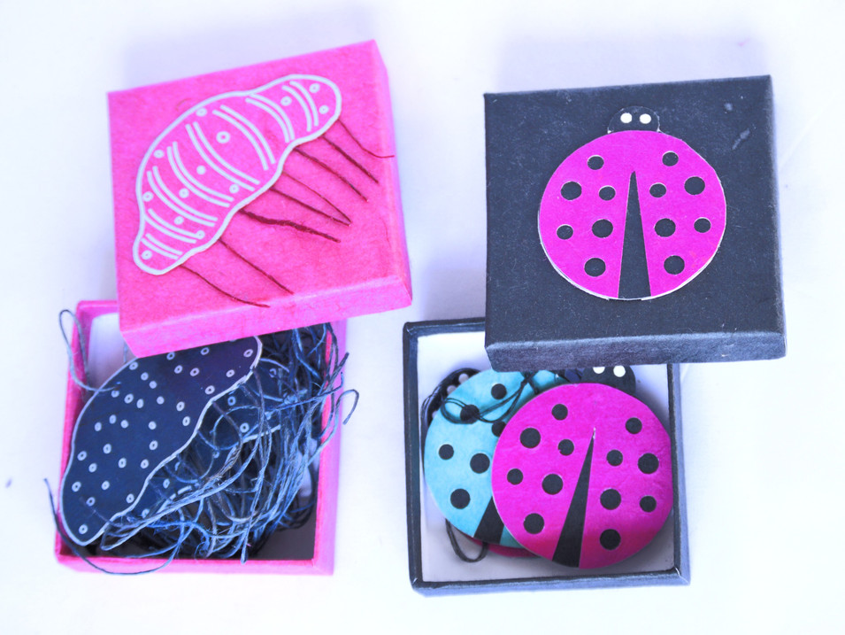 paper Tag in the box Lady Bug Jelly Fish