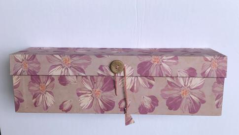 Wine Box Pink Flower