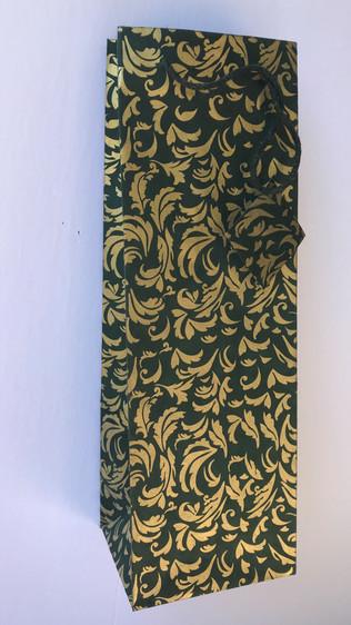 Gold Scattered Leaves -Dark Green