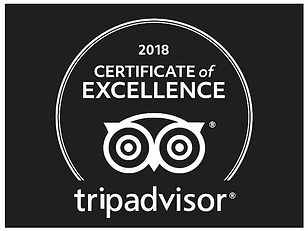 Certificate of Excellence from Tripadvis