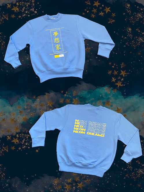 "KIDS ""Baby Blue Dreamz"" Crewneck Sweatshirt"