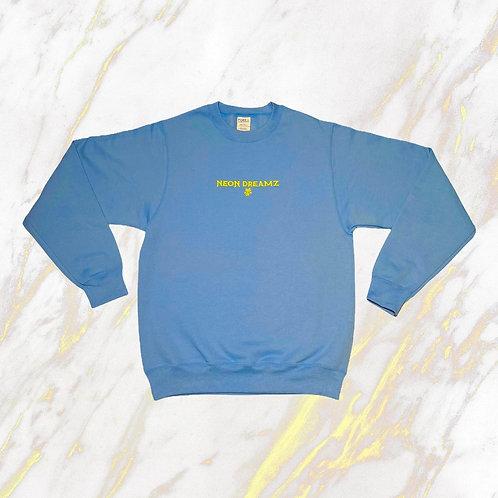 Baby Blue/Yellow Adult Crewneck Sweatshirt