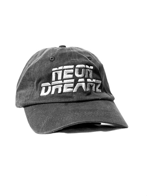 """Black/Charcoal Washed  """"Neon Dreamz"""" Dad Hat"""