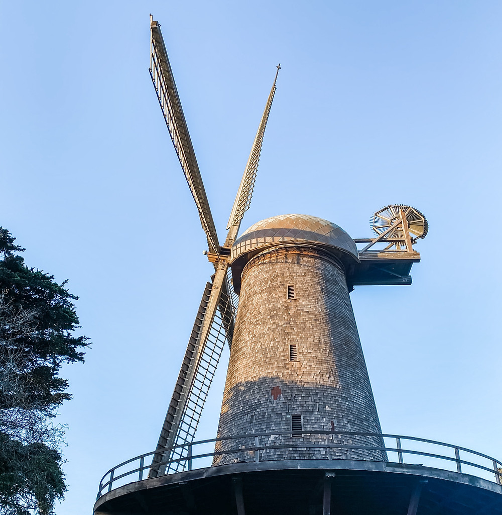 The Golden Gate Park Windmills in San Francisco
