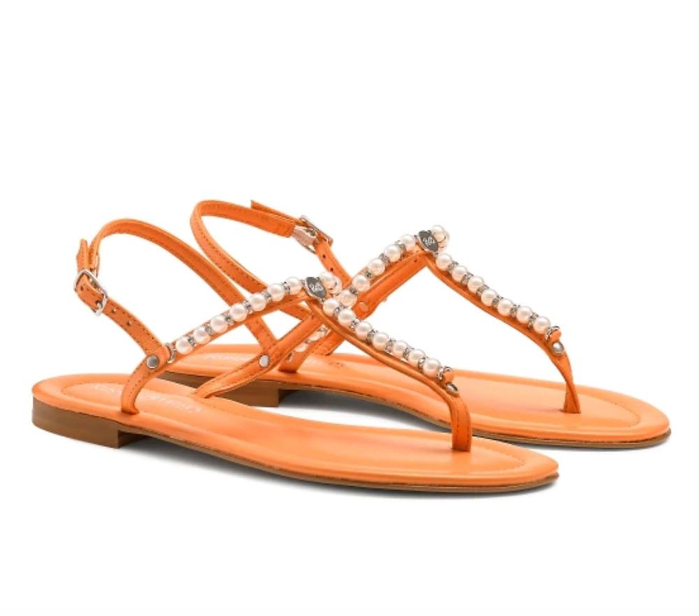 Russell & Bromley orange sandals
