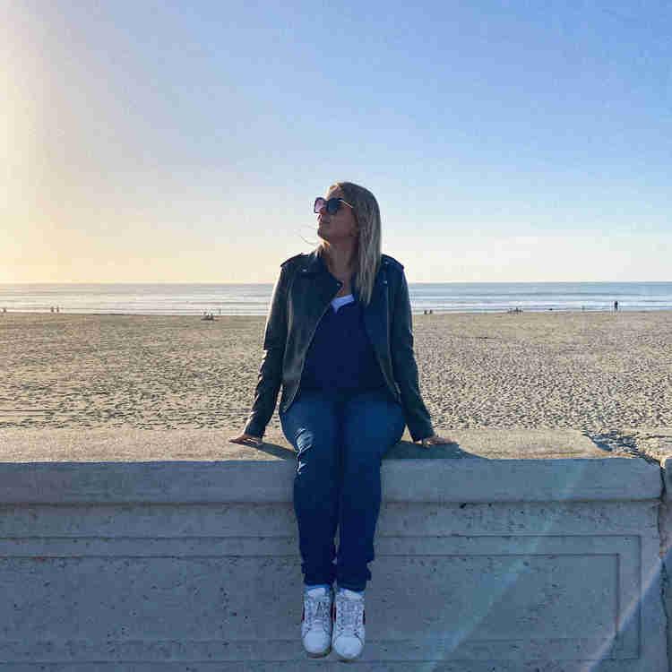 Rosanna Stevens on Ocean Beach