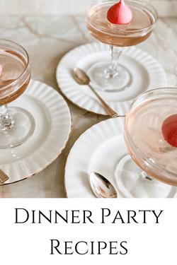 Dinner party recipes by Rosanna Stevens