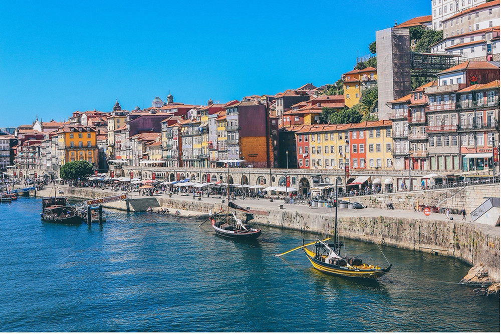 The city of Porto, a holiday destination in Portugal