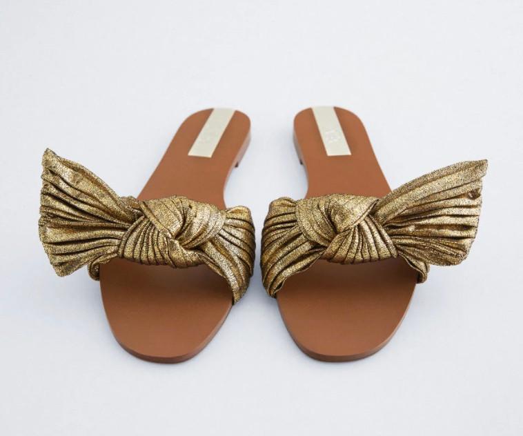 Zara metallic sandals