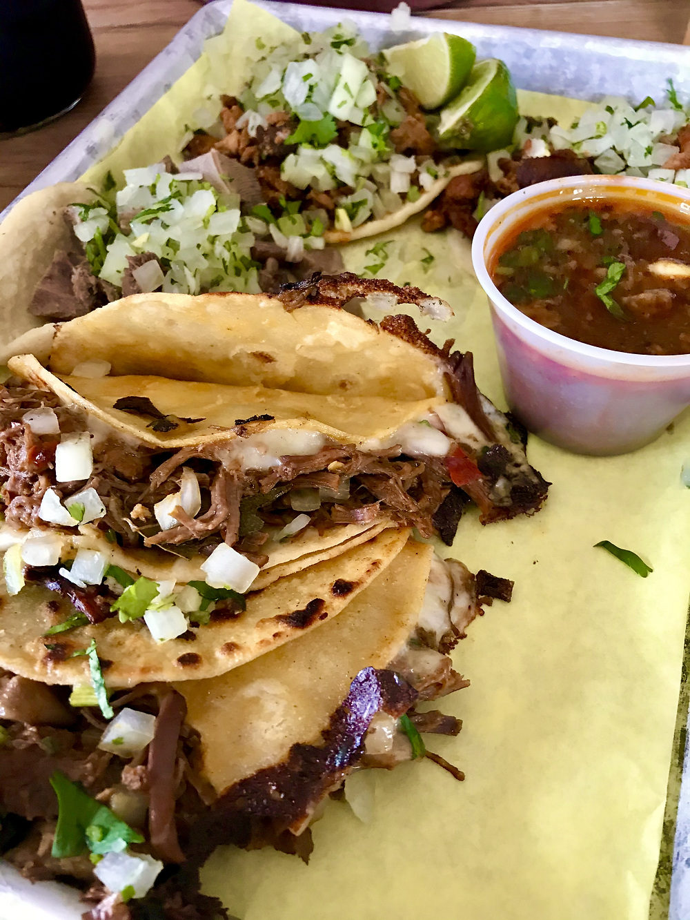 Birria Taco at Tacos El Patron