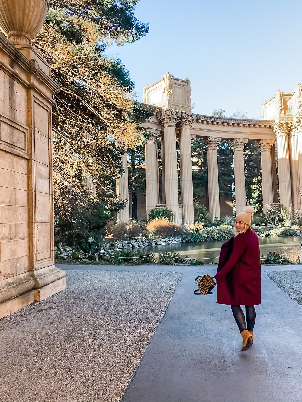 Rosanna ETC at the Palace of Fine Arts