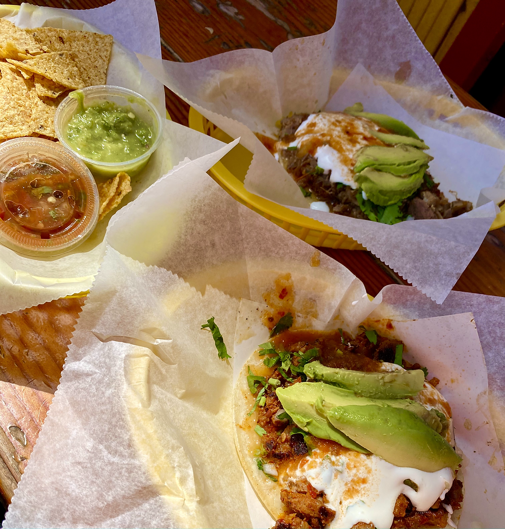 Super tacos at Taqueria Cancun