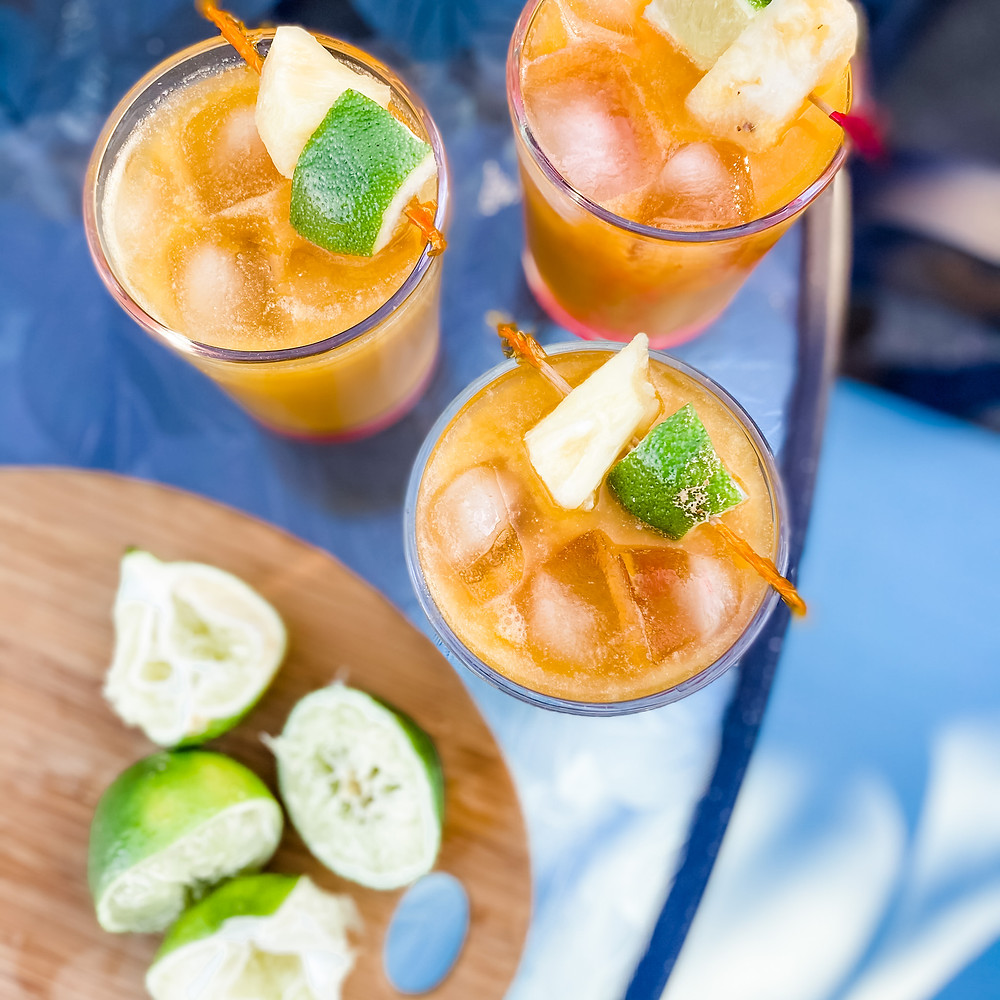 Pineapple rum punch from April's Fast, Fresh, Delicious ebook