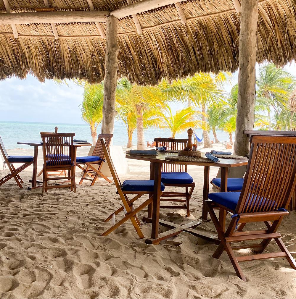 Mare restaurant at Turtle Inn, Belize