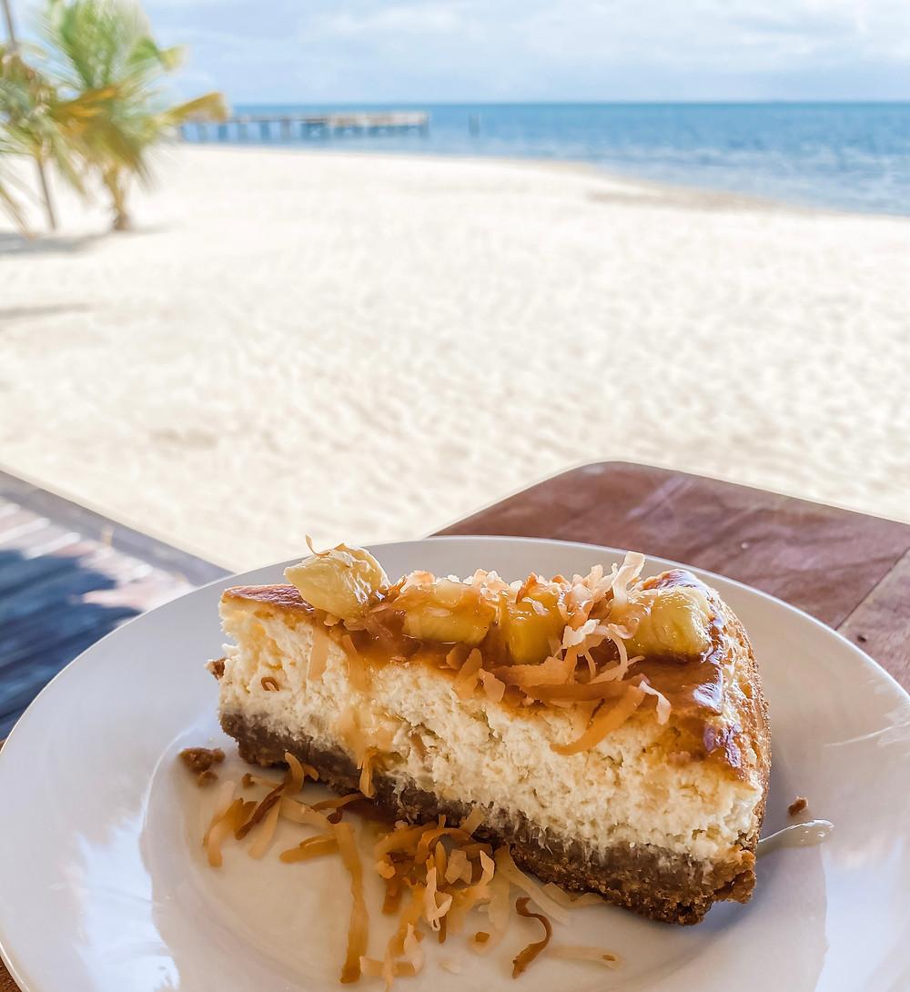 Pina Colada cheesecake at Umaya