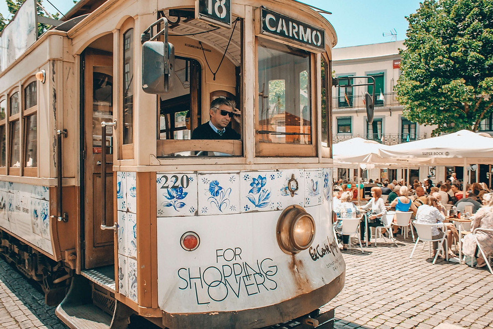 A Tram in Porto, Portugal