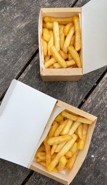 Chips from the cafe at Frensham Pond in Surrey