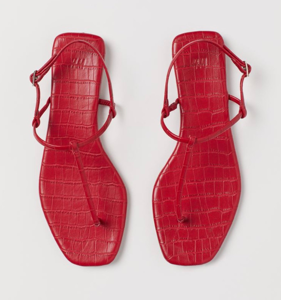 H&M flat summer sandals for holidays