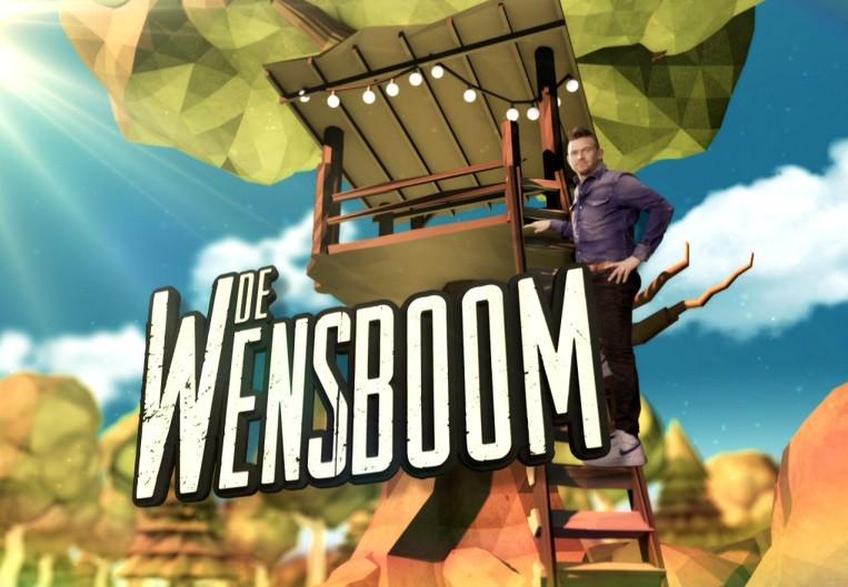 Boomhut gemaakt voor De Wensboom
