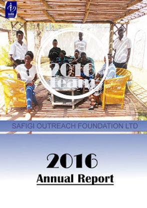 Annual report 2016 SAFIGI Outreach Found