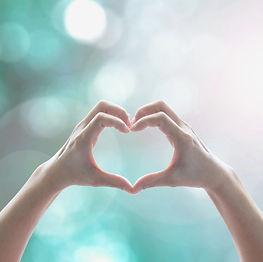 Heart shape hand for volunteering, love,