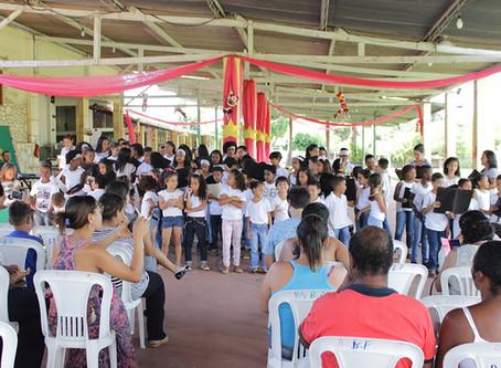 Término das atividades de 2018 na obra social São Geraldo em Curvelo/MG