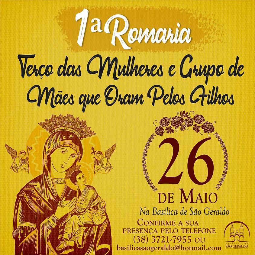 1ª Romaria do Terço da Mulheres e Grupos: Mães que oram pelos filhos.