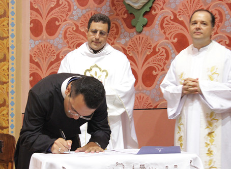 Celebração da Profissão Perpétua de Fr. Rodrigo Costa, C.SS.R.