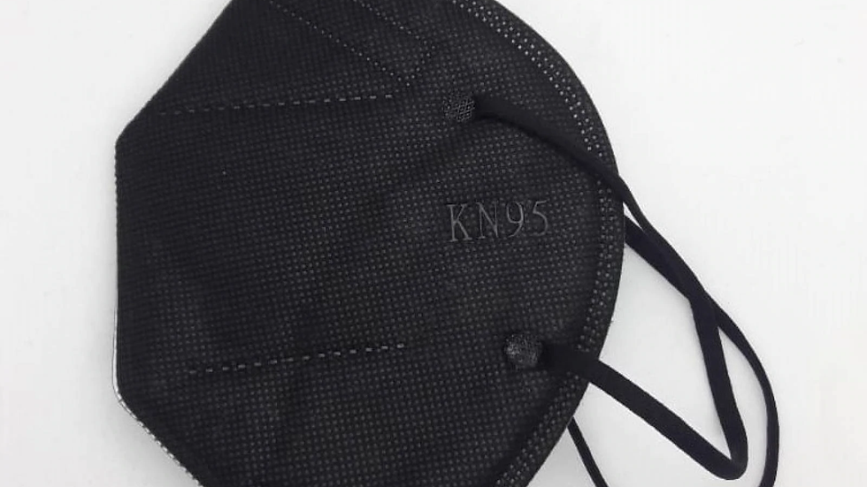 cubrebocas KN95 color negro