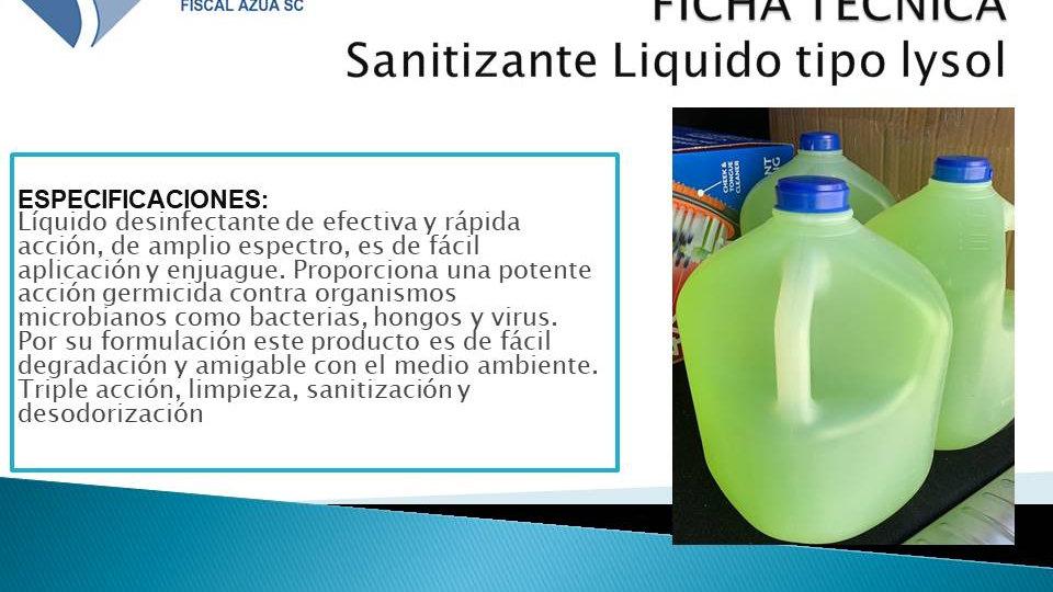 Sanitizante Liquido tipo (Lysol)