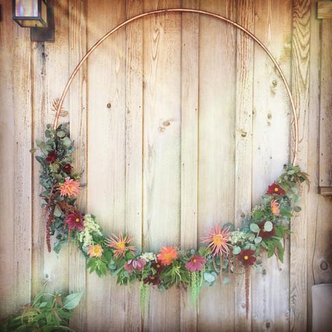 Circle Wreath Alter Arrangement