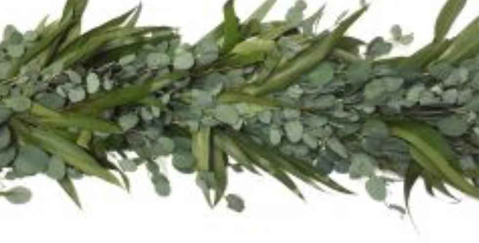 Greenery Garland Salal- Silver Dollar Eucalyptus
