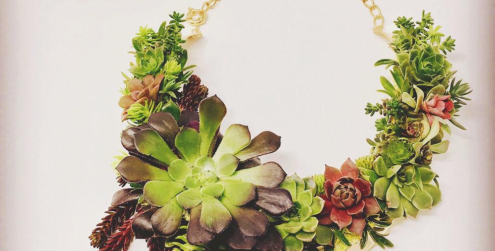 Lux Succulent Bib Necklace