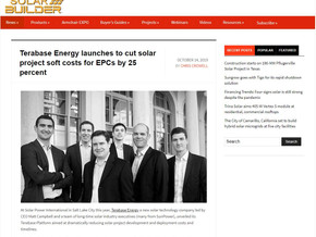 Terabase Energy launches to cut solar project soft costs for EPCs by 25 percent