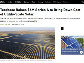 Terabase Raises $6M Series A to Bring Down Cost of Utility-Scale Solar