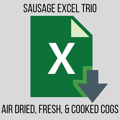 Sausage Worksheet Trio (Air Dried, Cooked & Fresh)