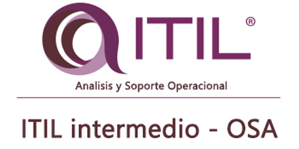 Curso ITIL OSA (Lunes 1 al viernes 5 de Abril) a solo $220.000 el curso