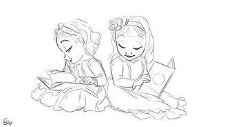 Doodled my friend's little girls ♡ #drawing #doodle #sketch #sketckbook #artistoninstagram