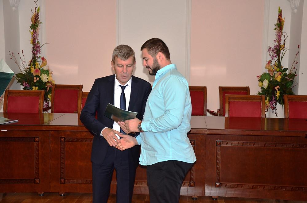 Парильщик года 2017 награждение в Администрации города