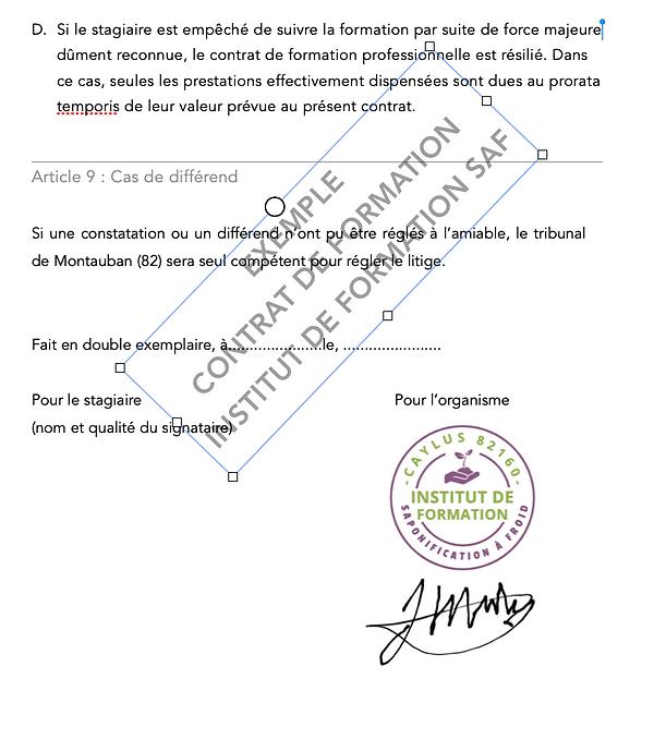 contrat de formation 5