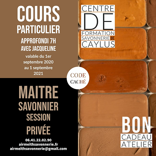 Bon Cadeau Atelier - Savonnier Master-class