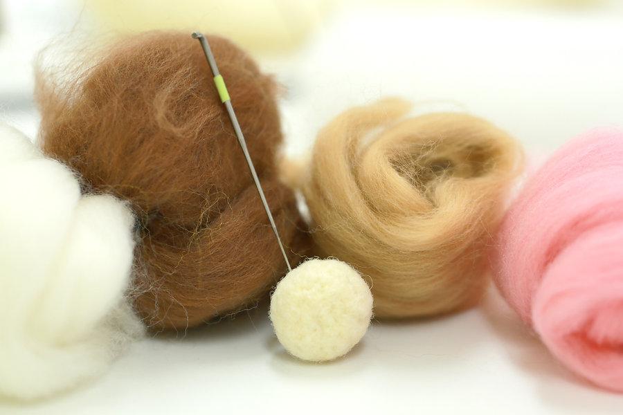 Needle felt, wool weaving handmade craft
