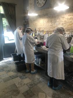 Création des savons en cours