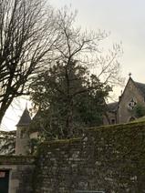Sunrise over chateau Caylus