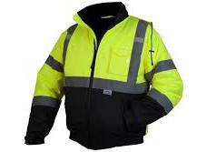 Hi-Vis Lime Bomber Jacket