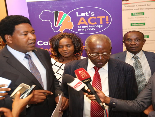 Members of Parliament call for Actions to Eliminate Teenage Pregnancy in Kenya